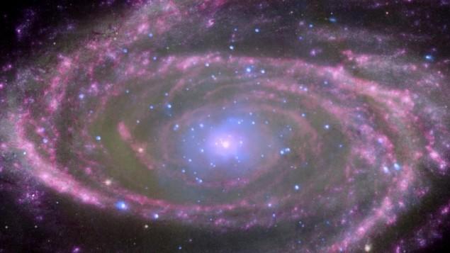 Un trou noir massif, environ 70 millions de fois plus grand que le soleil, situé au centre de la galaxie spirale M81. (Crédit : X-ray NASA/CXC/Wisconsin/D.Pooley & CfA/A.Zezas; Optical: NASA/ESA/CfA/A.Zezas; UV: NASA/JPL-Caltech/CfA/J.Huchra et al.; IR: NASA/JPL-Caltech/CfA)