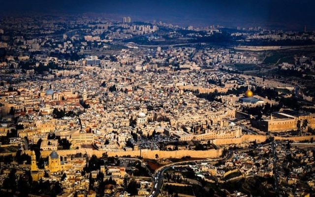 Vue de Jérusalem (Crédit : autorisation David Katz)
