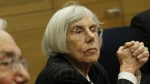 Dalia Dorner, ancienne juge de la Cour Suprême. (Crédit: Miriam Alster/Flash90)