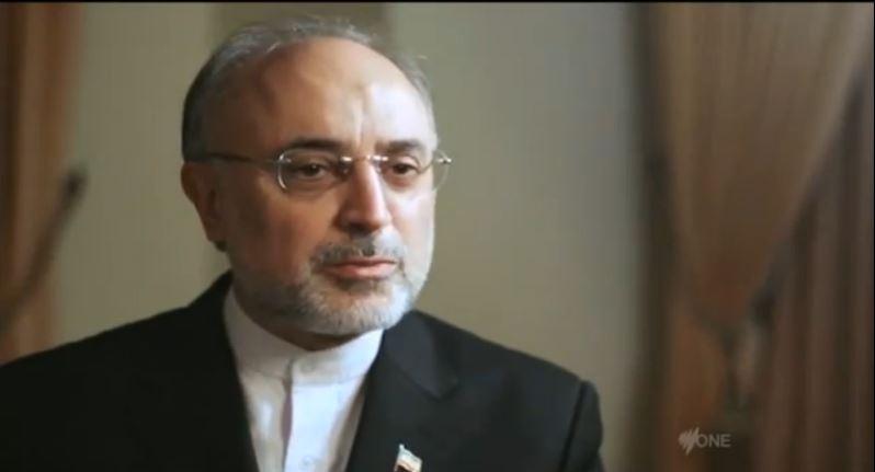 Le directeur de l'agence nucléaire iranienne, Ali Akbar Salehi, octobre 2012 (Capture d'écran Youtube/DatelineSBS)