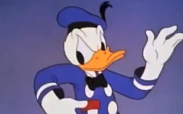 Donald Duck  (Crédit : capture d'écran YouTube)