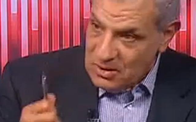 La dernière apparition d'Ibrahim Mahlab à la télévision égyptienne avant de former le nouveau gouvernement (Crédit : capture d'écran Youtube/OnTv livestreaming)