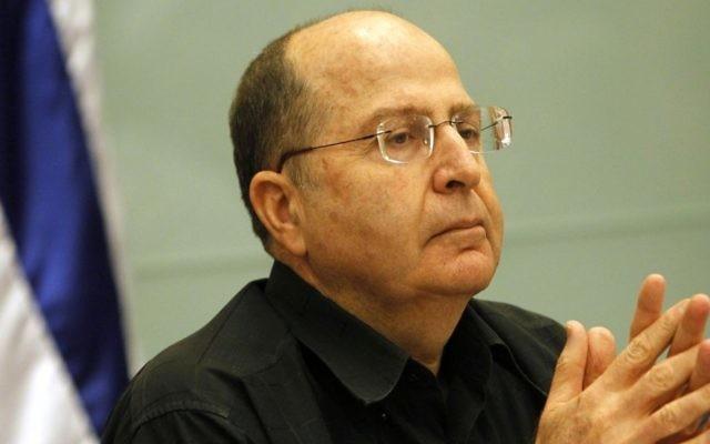 Le ministre de la Défense, Moshe Yaalon, à la Knesset (Crédit : Avi Ohayon/GPO/Flash90)