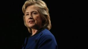 L'ancienne secrétaire d'État américaine, Hillary Clinton, le 26 février 2014 (Crédit : Joe Raedle/Getty Images/AFP)