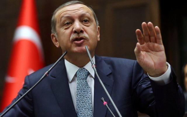 Recep Tayyip Erdogan, 25 février 2014 (Crédit : Adem Altan/AFP Photo)