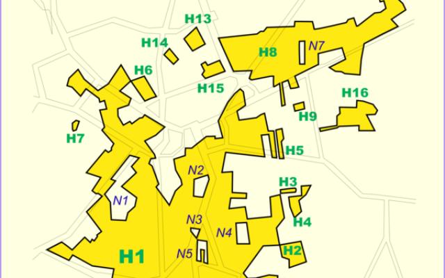 La frontière belgo-hollandaise au niveau de Baarle Nassau et Baarle Hertog (Crédit : Tos/domaine publique/Wikimedia Commons)