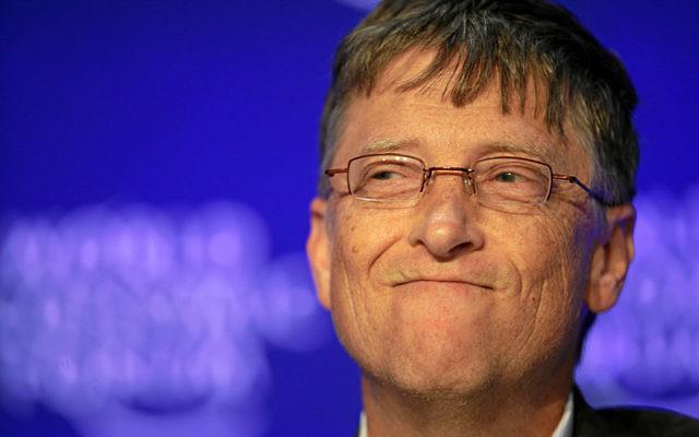 Bill Gates à Davos, en 2014 (Credit : CC BY Sebastian Derungs/World Economic Forum/swiss-image.ch/Wikimedia Commons)