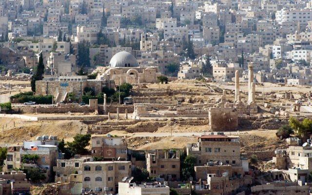 La Citadelle d'Amman, le centre historique de la capitale jordanienne (Crédit : CC BY David Bjorgen/Wikimedia Commons)