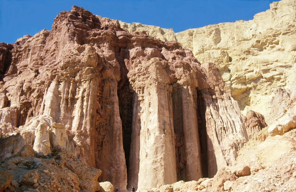 Les piliers de Amram (Crédit : Shmuel Bar-Am)