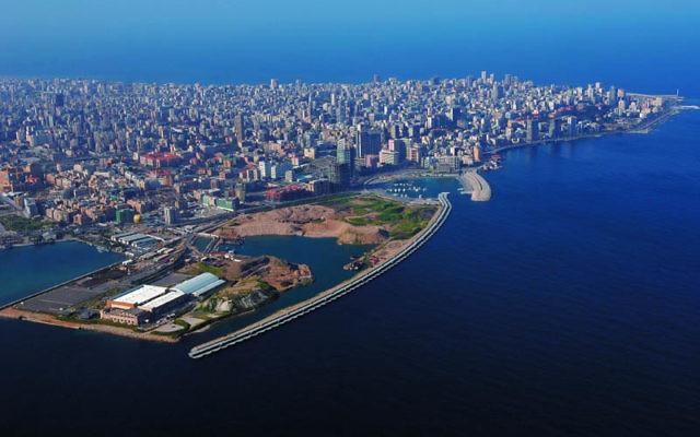 Vue aérienne de Beyrouth, Liban (Crédit : CC BY Yoniw/Wikimedia Commons)