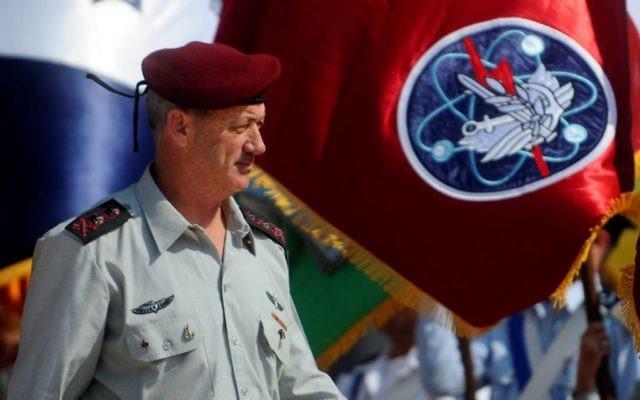 Le chef d'état-major de l'armée israélienne, le lieutenant général Benny Gantz (Crédit : Autorisation de Tsahal.fr)