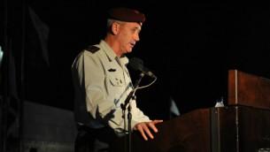 Le chef d'état-major, le lieutenant-général Benny Gantz (Crédit : Autorisation de Tsahal.fr)