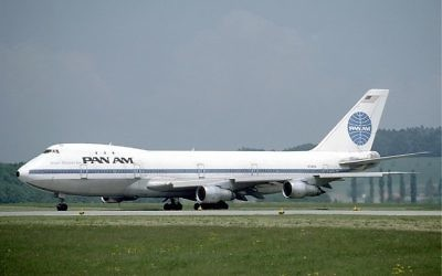 Boeing 747 de la Pan Am (Crédit : Eduard Marmet/CC BY-SA 3.0/Wikimedia commons)