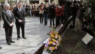 Cérémonies à la mémoire des victimes de Mohamed Merah à Toulouse (Crédit : AFP)