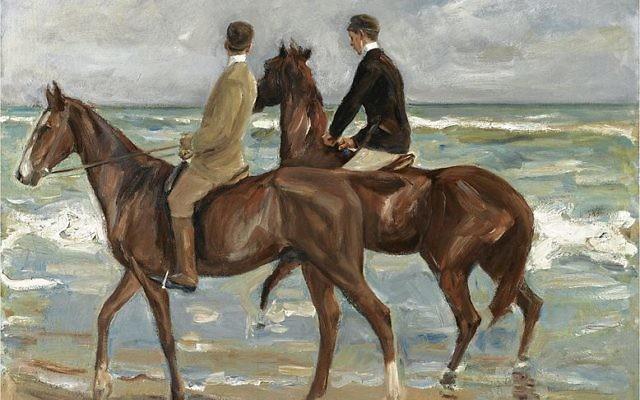 """""""Deux cavaliers sur la plage"""" de Max Liebermann (Crédit : Wikimedia Commons)"""
