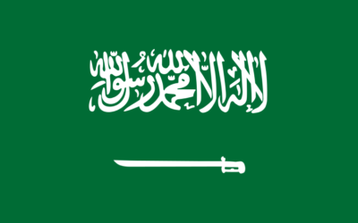 Drapeau de l'Arabie saoudite (Crédit : Wikimedia commons)
