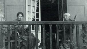 Dreyfus et sa femme Lucie (Crédit : Collection de la famille Dreyfus)