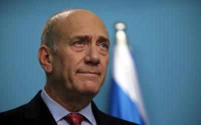 Ehud Olmert (Crédit : Yossi Zamir/Flash 90)