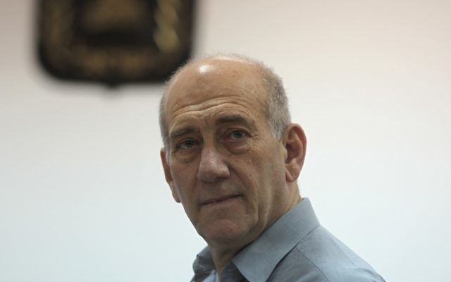 Ehud Olmert (Crédit : Flash90)
