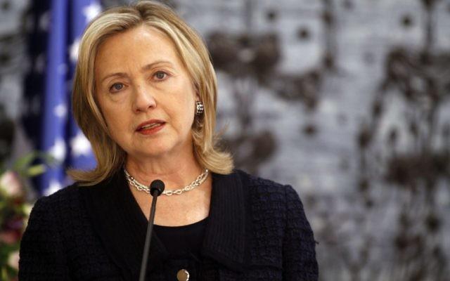 Hillary Clinton, le 15 septembre 2010 (Crédit : Miriam Alster/FLASH90)