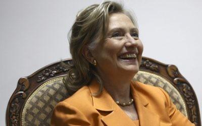Hillary Clinton, le 16 septembre 2010 (Crédit : Fadi Arouri/POOL/Flash90)