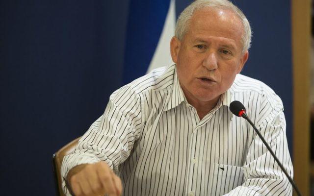 Le député Likud Avi Dichter, le 25 octobre 2012 (Crédit : Yonatan Sindel/Flash90)