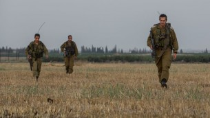 Des soldats d'infanterie israéliens lors d'un exercice près de la frontière syrienne, sur le Plateau du Golan, au nord d'Israël. Illustration. (Crédit : Flash90)