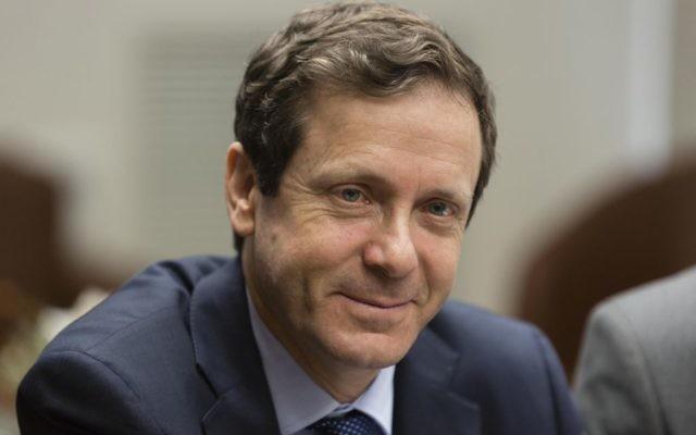 Le chef du Parti travailliste Isaac Herzog  (Crédit : Flash90)