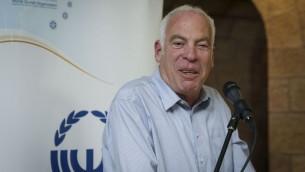 Le ministre du Logement Uri Ariel, lors d'un evenement organise par le Conseil Sioniste d'Israel et l'Organisation Sioniste Mondiale, le 7 février 2014 (Crédit : Hadas Parush/Flash 90)