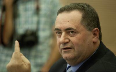 Le ministre des Transports Yisrael Katz, lors de la réunion du comité des affaires économiques à la Knesset, le 3 mars 2014 (Crédit : FLASH90)