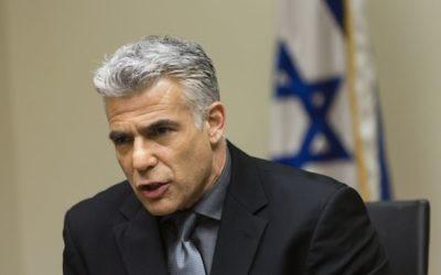 Yair Lapid (Crédit : Flash 90)