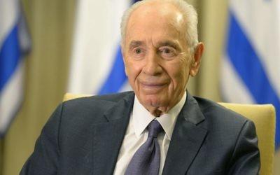Le président israélien Shimon Peres souhaite un joyeux Nowruz aux Iraniens, le 20 mars 2014 (Crédit : Mark Neyman/GPO/Flash 90)