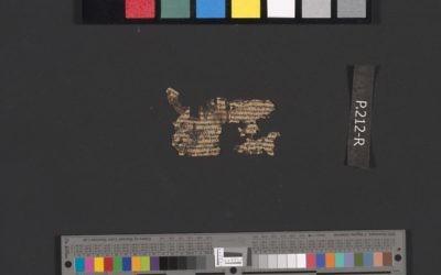 Un parchemin de Qumran déroulé 4Q135, plaque 212, fragment 2. (Crédit : Autorisation de l'Autorité israélienne des Antiquités)