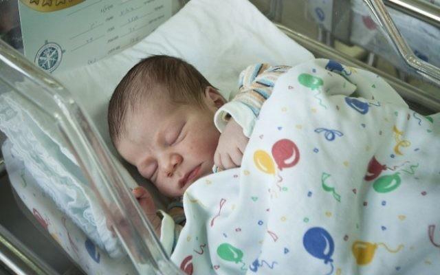 Illustration d'un nouveau-né (Crédit : Moshe Shai/Flash 90)