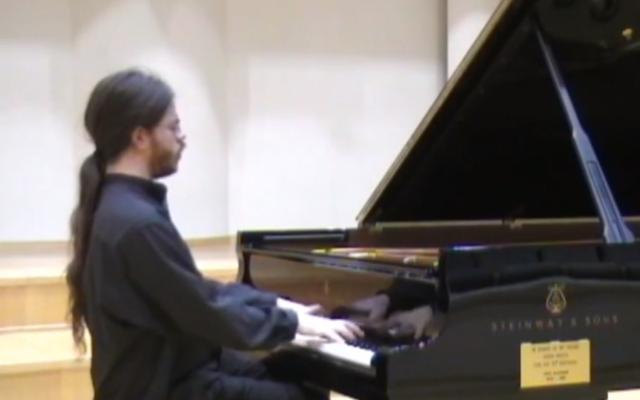 Imri Talgam, pianiste israélien (Crédit : capture d'écran Youtube)