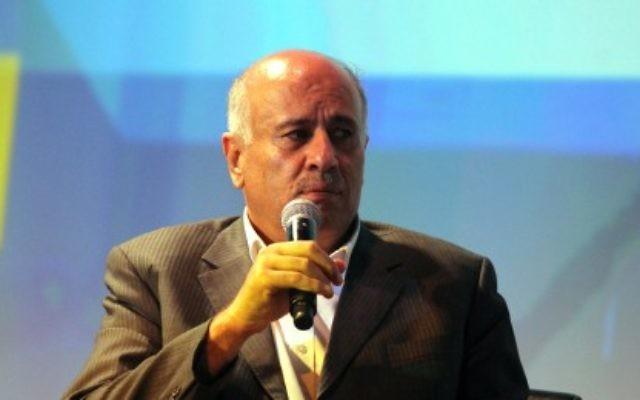 Jibril Rajoub, responsable du Fatah. (Crédit : Yossi Zamir/Flash 90)