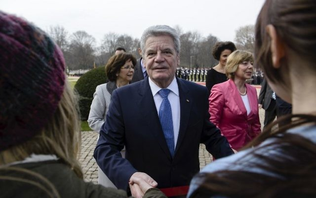 Le président allemand Joachim Gauck (Crédit : AFP/Clemens Bilan)