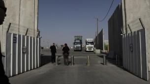 La frontière Keren Shalom (Crédit : Tsafrir Abayov/Flash 90)