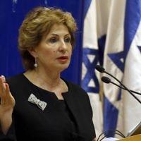 Sofa Landver, ministre de l'Alya et de l'Intégration (Crédit : AFP)