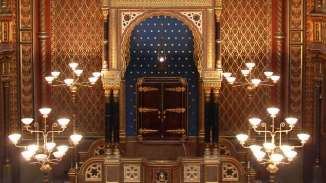 La Synagogue espagnole de Prague (Crédit : Rachael Cerrotti/Flash90)