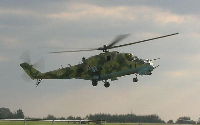 Le Mil Mi-24, plus connu sous le nom Hind, est de loin l'hélicoptère d'attaque le plus produit. La Syrie en possédait 36 avant la révolte syrienne. (Crédit : Voytek S/CC BY SA 3.0/Wikimedia commons)