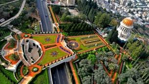 Le mausolée du Bab à Haifa (Crédit : Zvi Roger/Municipalité de Haïfa/CC BY 3.0)