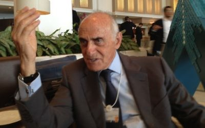 Le milliardaire palestinien Munib Al-Masri (Crédit : Raphael Ahren/The Times of Israel)