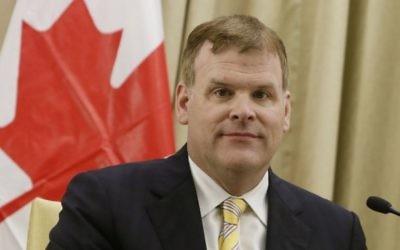 Le ministre des Affaires étrangères canadien John Baird (Crédit : Miriam Alster/Flash 90)