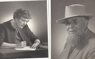 Ces portraits de Lillian et Filippus Mosseco ont été réalisés en Pennsylvanie et ont été envoyés dans une lettre aux cousins de Filippus en Israël, en 1965 (Crédit : autorisation de Zipora Saar via JTA)