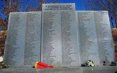 Mémorial aux victimes de l'attentat de Lockerbie (Crédit : Wikimedia Commons)