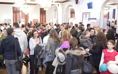 Le Salon de l'alyah à Paris (Crédit : Alain Azria)