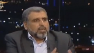 Ramadan Shalah, chef du Jihad islamique (Crédit : capture d'écran YouTube)
