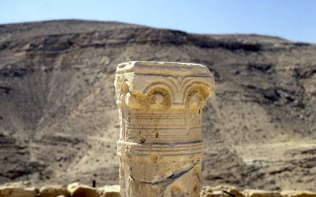 Ruine dans le désert du Néguev (Crédit : Leif Knutsen/Wikimedia commons)