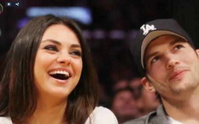 Mila Kunis et Ashton Kutcher (Crédit : capture d'écran entertainmentwise)